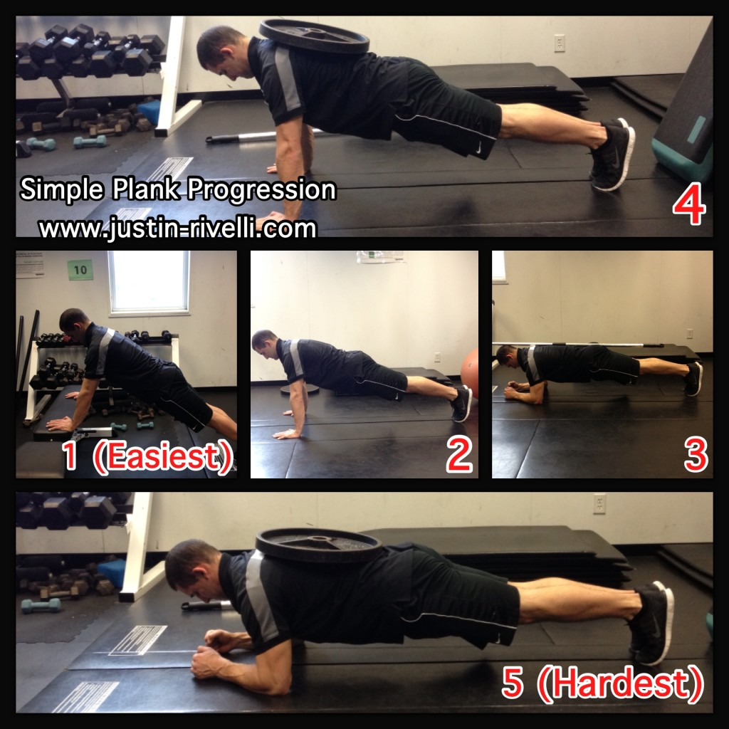 Front Plank Progression