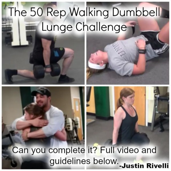 The Walking Dumbbell Lunge Challenge (Males & Females)