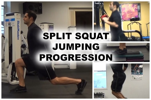 Bodyweight Split Squat Jumping Progression (OVER 30 EXERCISE VARIATIONS!)