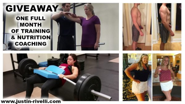 GIVEAWAY: ONE MONTH TRAINING & NUTRITION COACHING (CLICK HERE FOR DETAILS)
