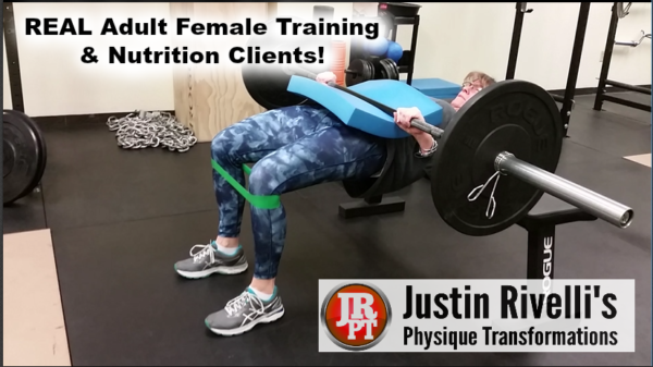 Real Adult Female Training & Nutrition Clients
