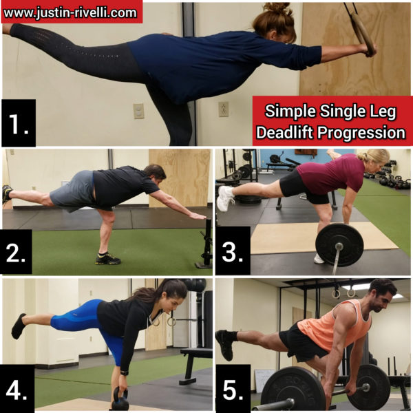 Simple Single Leg Deadlift Progression (With Real People)